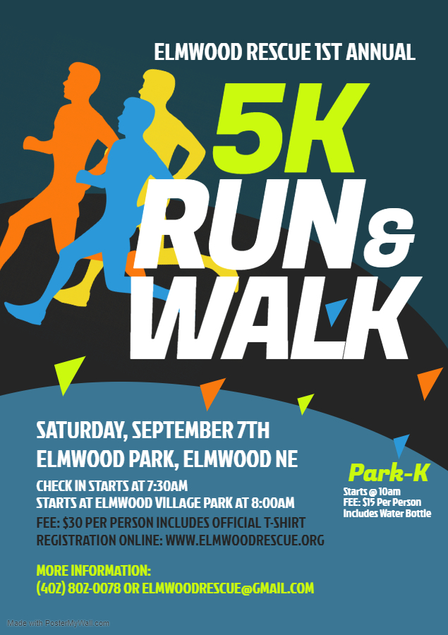5K Run Walk Elmwood Rescue
