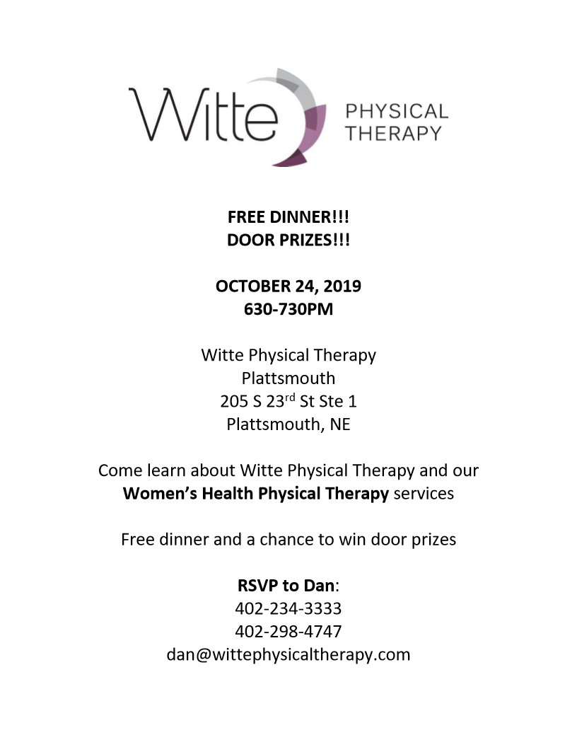 Womens Health Physical Therapy dinner