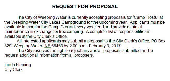 WWrequest forproposal